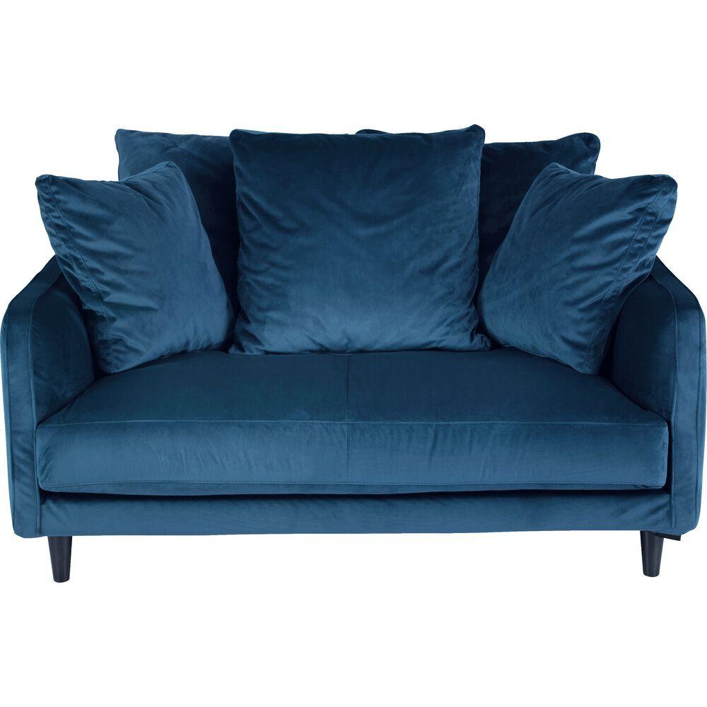 Canape 2 Places Convertible En Velours Bleu Figuerolles Lenita Canape 2 Places Convertible Canape 2 Places Canape