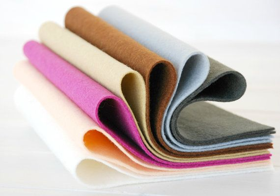 100 Wool Felt Sheets Portrait Color Collection By Craftywoolfelt Felt Sheets Wool Felt Merino Wool Felt