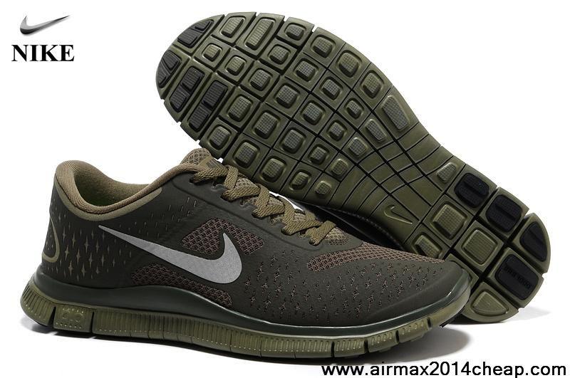 Wholesale Discount 511472-203 Nike Free 4.0 V2 Mens Iguana Reflect Silver  Cargo Khaki Running