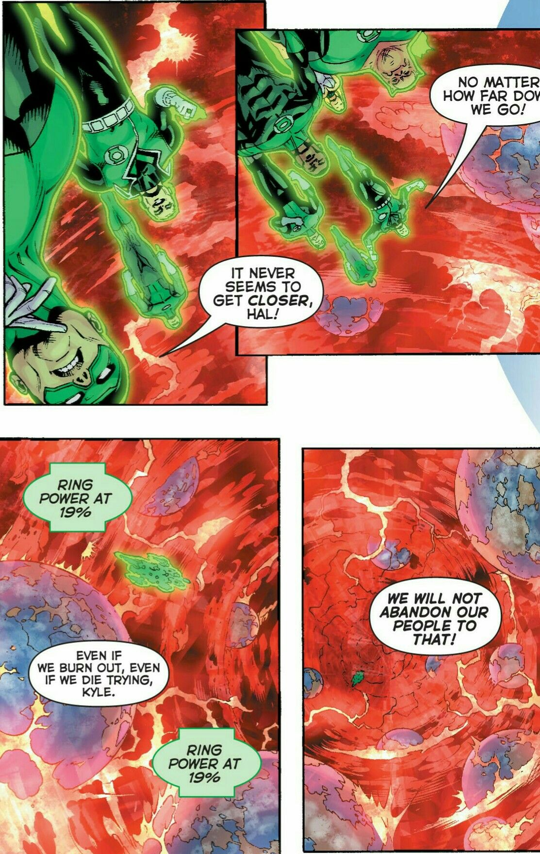Green Lantern Corps trying to save the Multiverse during Final Crisis