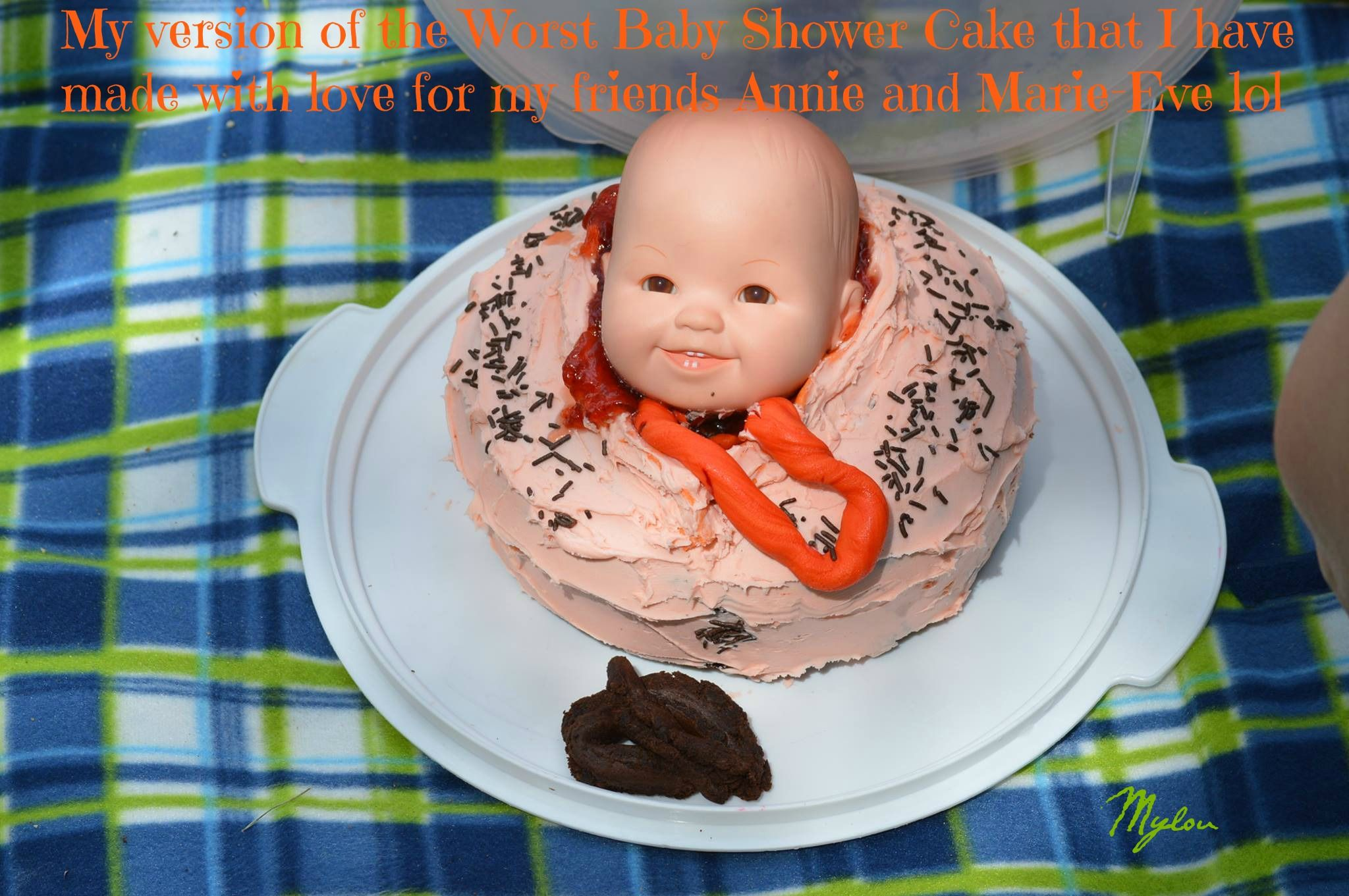 My Version Of The Worst Baby Shower Cake That I Have Made For My