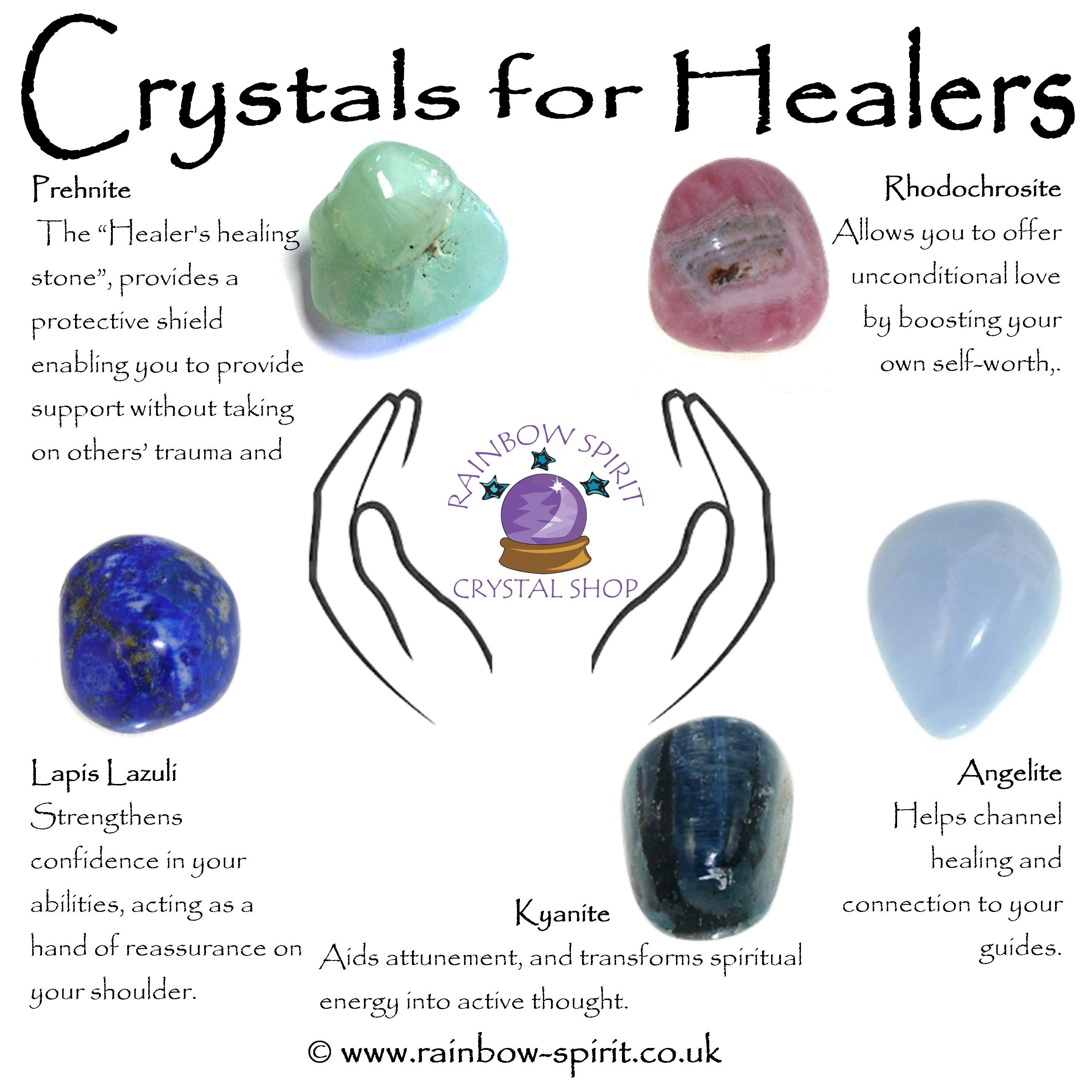 A Crystal Set Of Tumbled Stones With Healing Properties To Support Healers And Carers By Rainbow