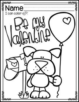 VALENTINES DAY COLORING PAGES FREEBIE  TeachersPayTeacherscom