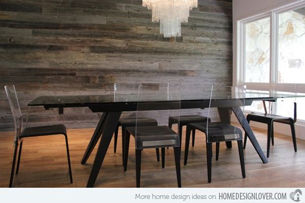 15 Delightful Dining Rooms with Wooden Wall Panels. Barn Wood WallsReclaimed  ... - 15 Delightful Dining Rooms With Wooden Wall Panels Reclaimed
