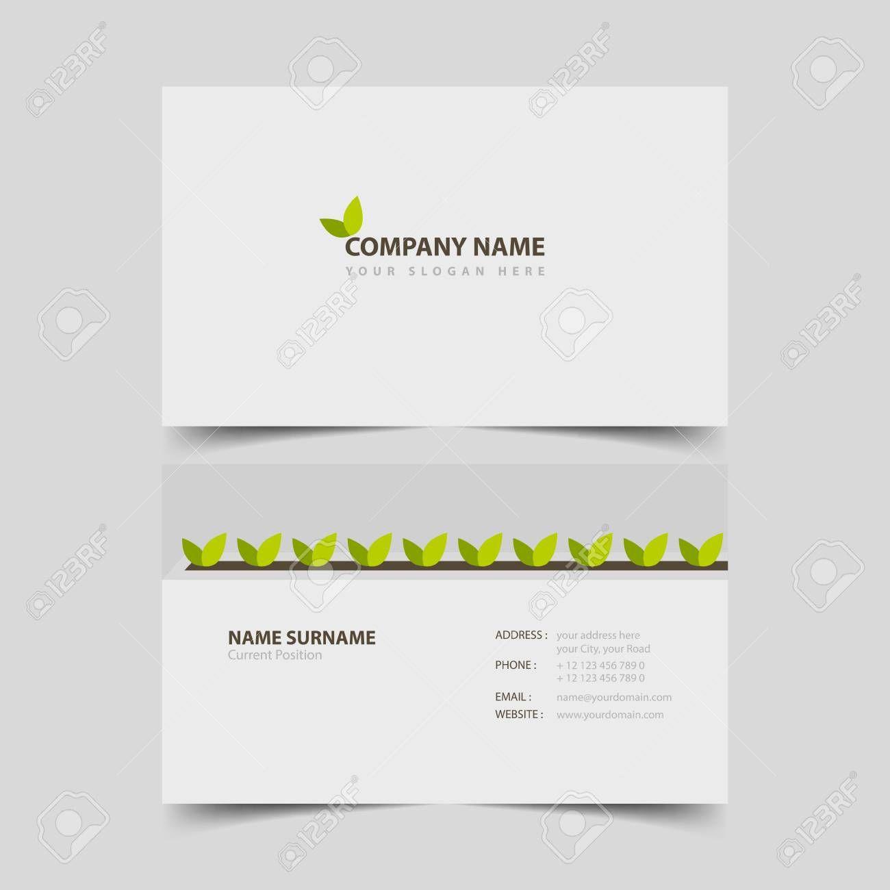 The Extraordinary Gardener Business Card Design Template Inside Business Card Template Design Photography Business Cards Template Free Business Card Templates