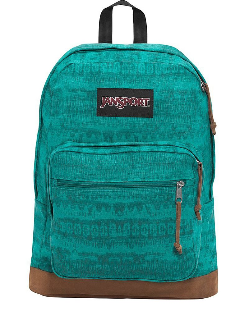 JanSport Right Pack Laptop Backpack- Discontinued Colors (Spanish Teal  Ethnic) 8e0c1650e760b