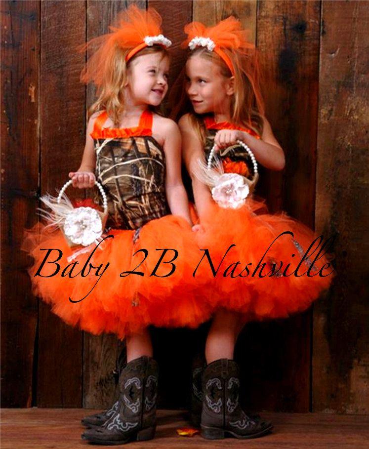 86f24502c69fb Orange Camo Flower Girl Tutu All Sizes Girls - pinned by pin4etsy.com