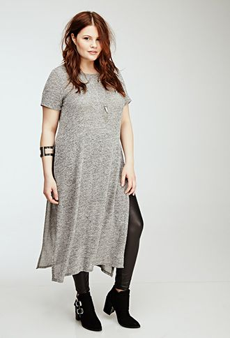 heathered maxi dress | forever21 plus | #f21plus | forever21