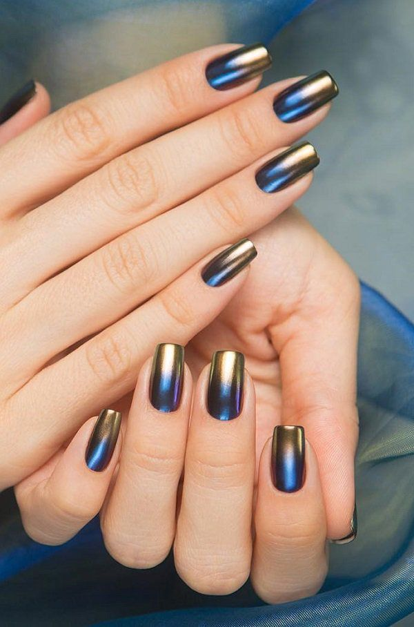 45 Classy Nail Art Ideas Nail Art Pinterest Metallic Nails