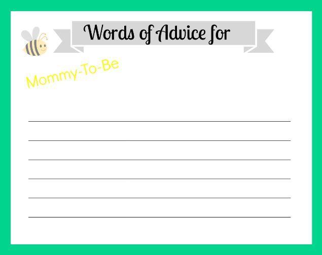 Baby Shower Advice Cards Printable Advice cards, Advice and Babies - free printable baby shower guest list