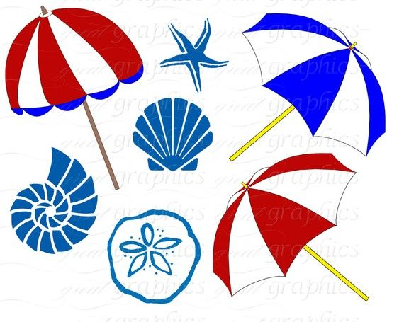beach clip art beach clipart seashell beach umbrella beach chair rh pinterest com au sea shell clip art images seashell clip art free images
