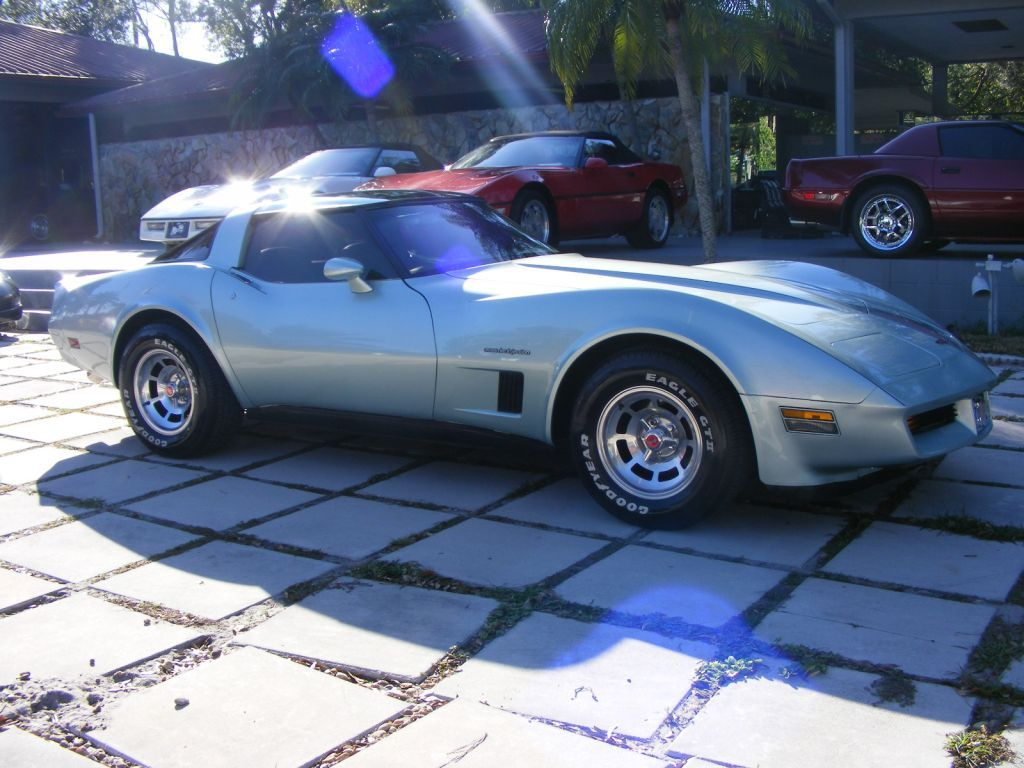 1982 Corvette Coupe This Exceptionally Rare 82 Vette Is Silver Green With Matching Leather Interior Factory Aluminum Wheels Glass Corvette Toy Store Coupe