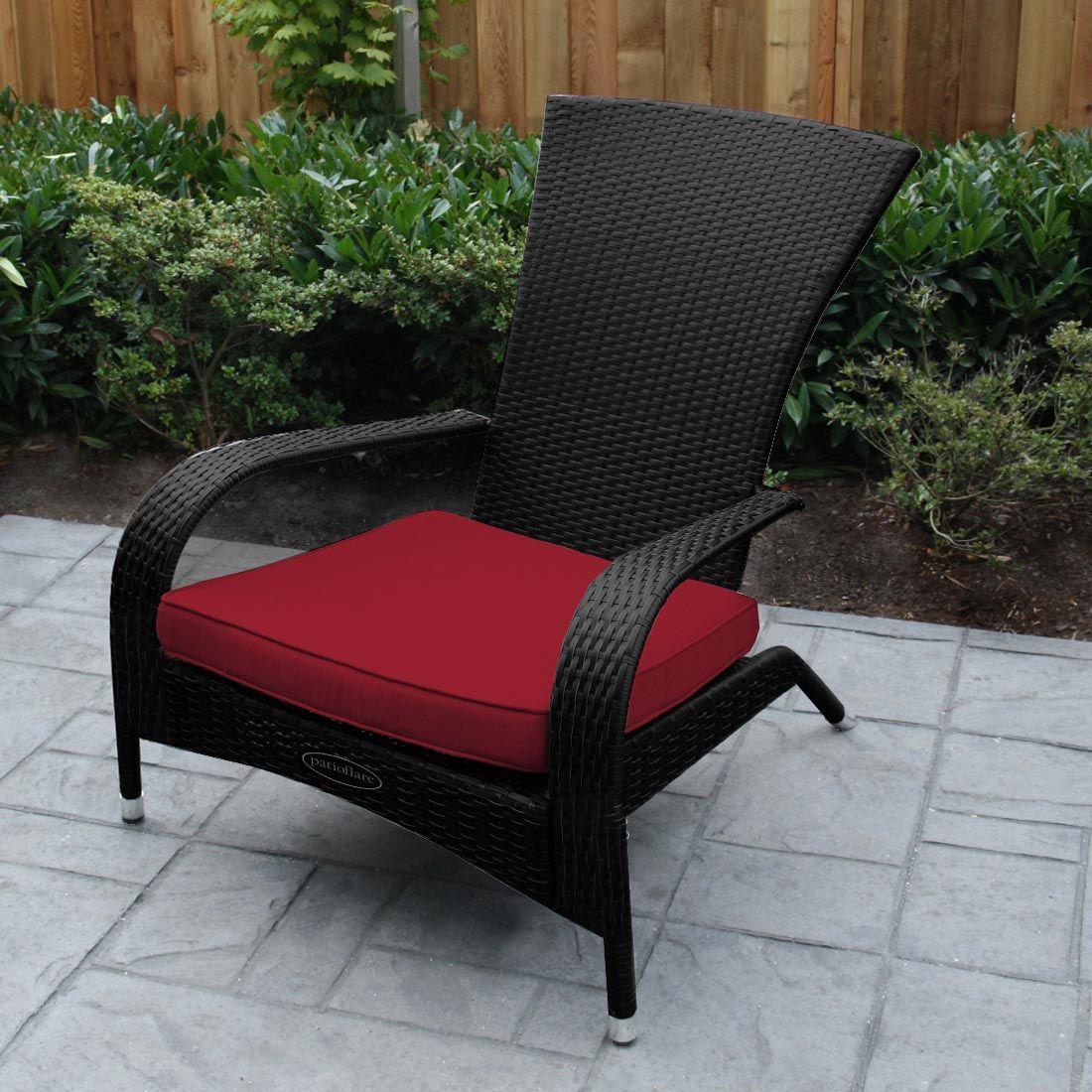 patio flare pf ch200 wicker muskoka outdoor chair and cushion