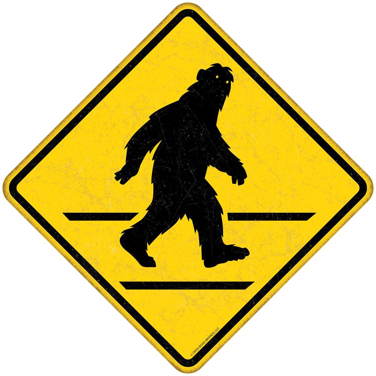 Bigfoot crossing road sign wall decal bigfoot wall decals and