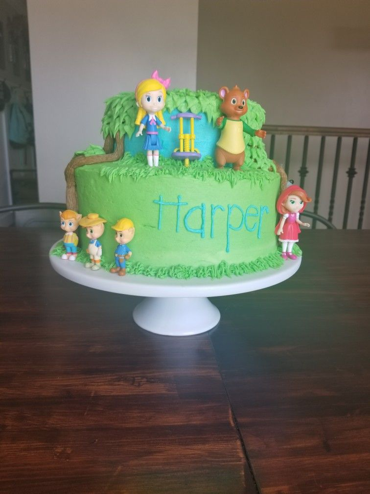 Goldie And Bear Cake With Images Bear Birthday Kids Birthday