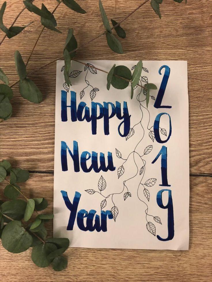 Happy New Year 2019 Carte De Voeux 2019 Nouvel An Tutorial De