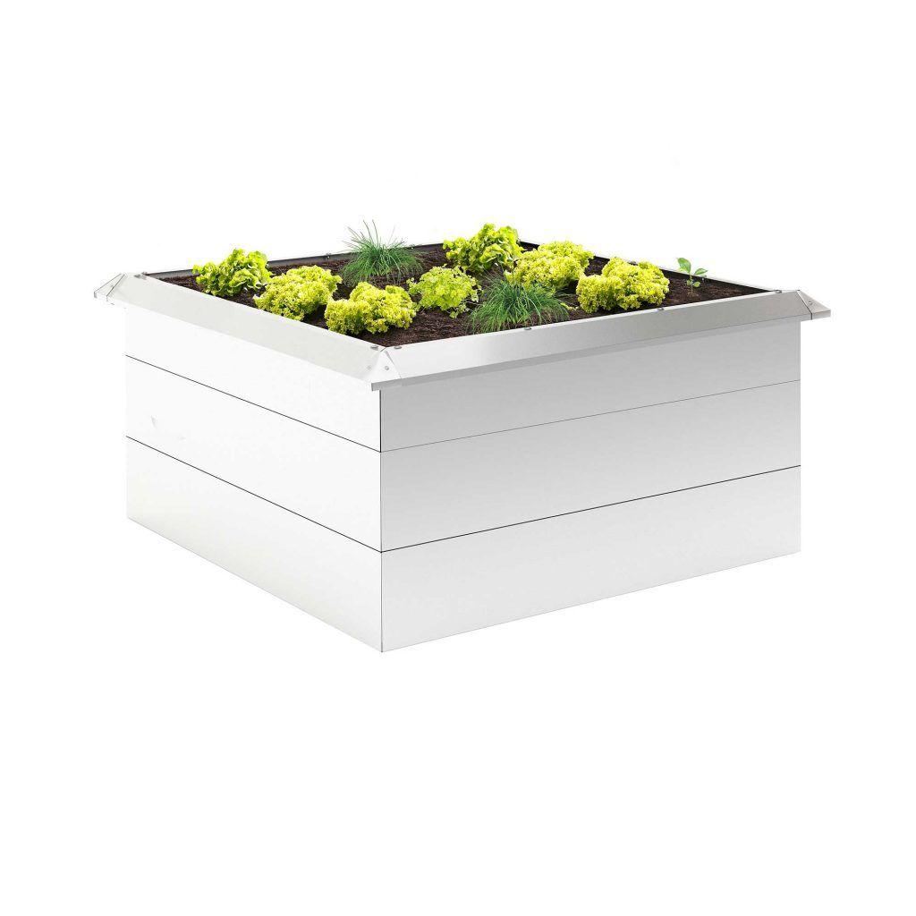 Hochbeet L Alumetallic 189x89x75cm Mit Schneckenschutzkante Bausatz Greentender In 2020 Hochbeet Aluminium Beete