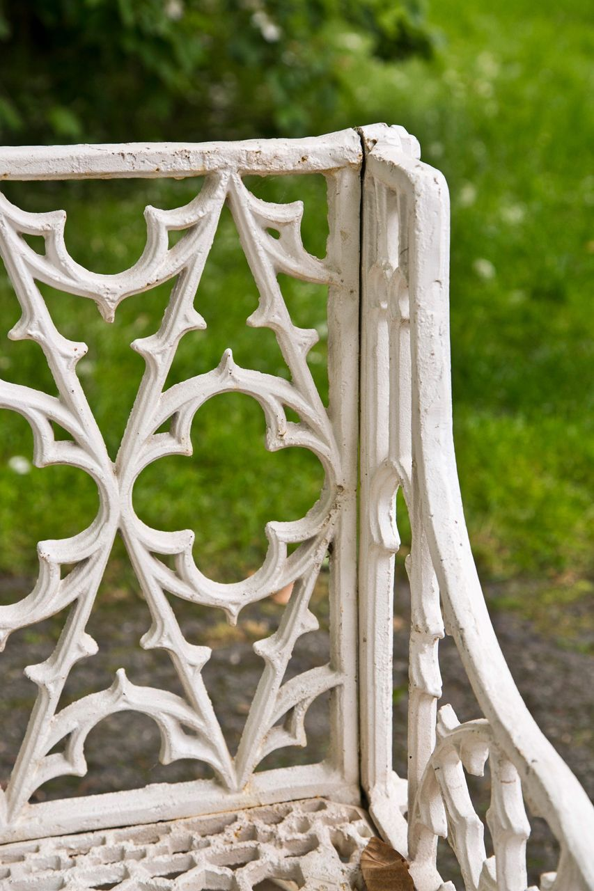 1stdibs | Pair of Gothic Style Cast Iron Benches