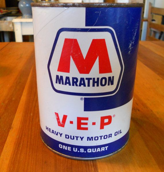 4 Marathon VEP Heavy Duty SAE 30 Oil cans  unopened by Groovinonup, $29.00