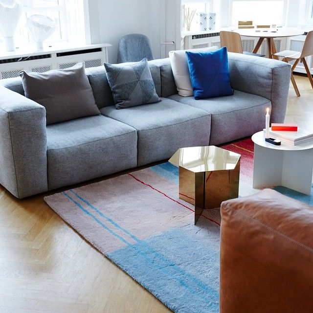 Enjoy The Mags Soft Sofa From HAY With The New Slit Table In Different  Shapes And