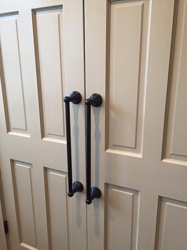 Towel bars as door handles