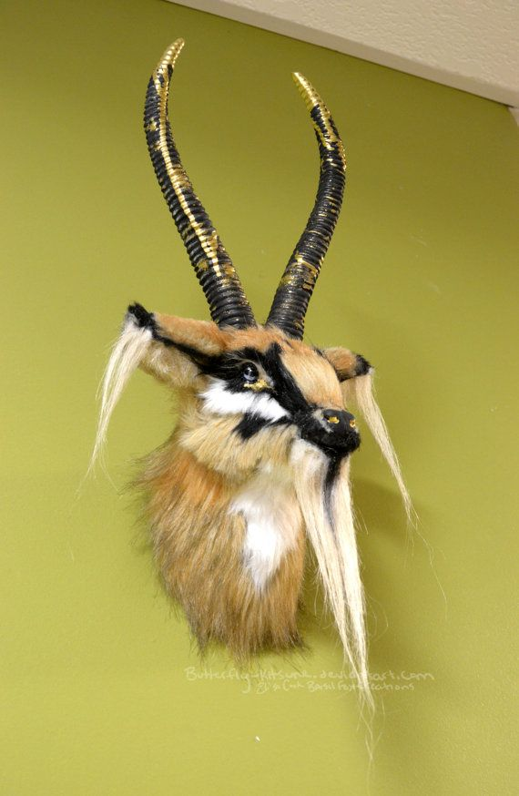Faux Fur Antelope Wall Mount 50% off by BasilFoxCreations on Etsy ...