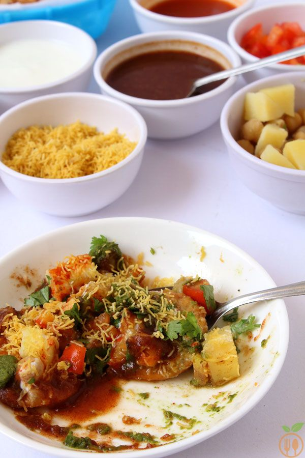 Dahi papdi chaat with homemade papdi recipe veggie food dahi papdi chaat with homemade papdi exoticveggie foodstreet forumfinder Images
