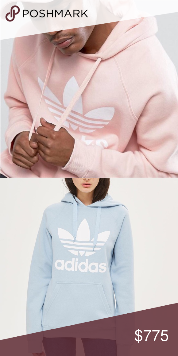 71f83e2d8720 Looking for Adidas Originals Trefoil Hoodie Sweatshirts. I d love a pastel  color like pink or powder blue. I m also open to bright red