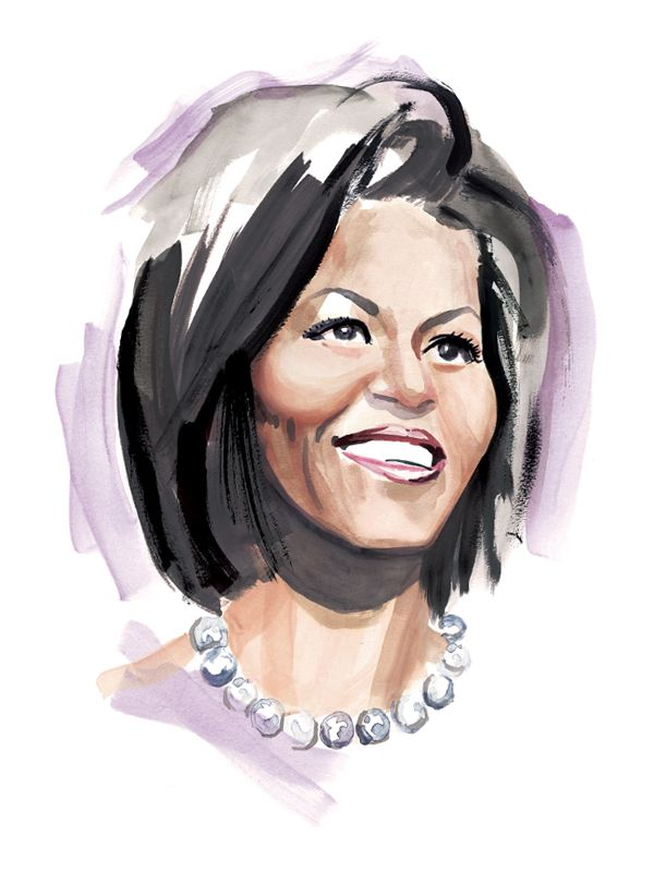 Michelle Obama by Ben Wiseman. great stuff for the book Mrs. O.