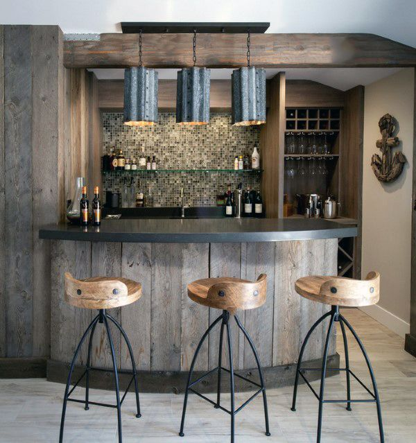 Home Bar Decorating Ideas: 50 Man Cave Bar Ideas To Slake Your Thirst