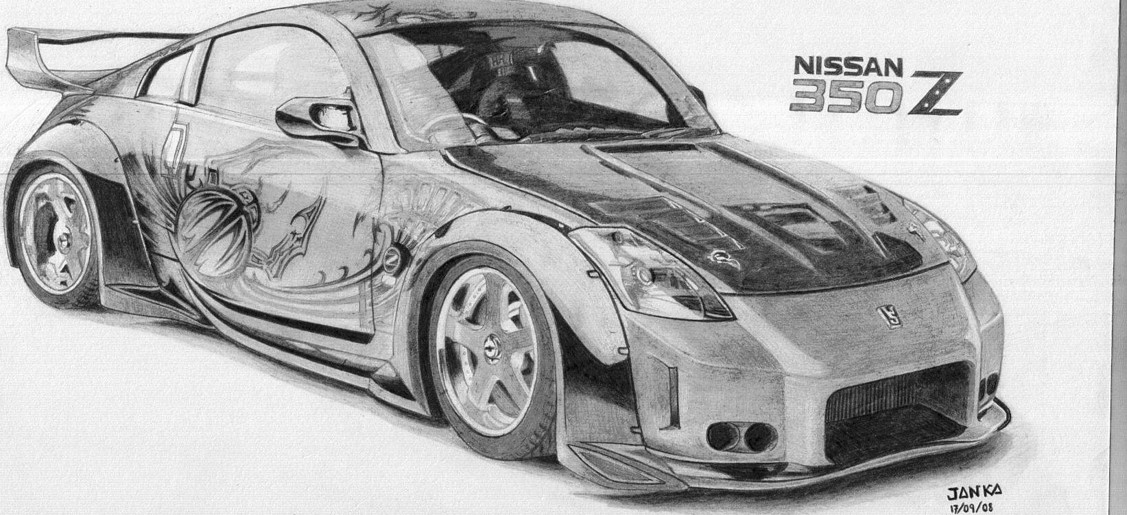 Nissan 350Z Tokio Drift Fast & Furious - Drawing | Dibujos ...