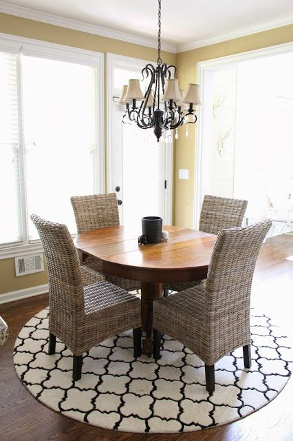 Dining Room Circle Table With A