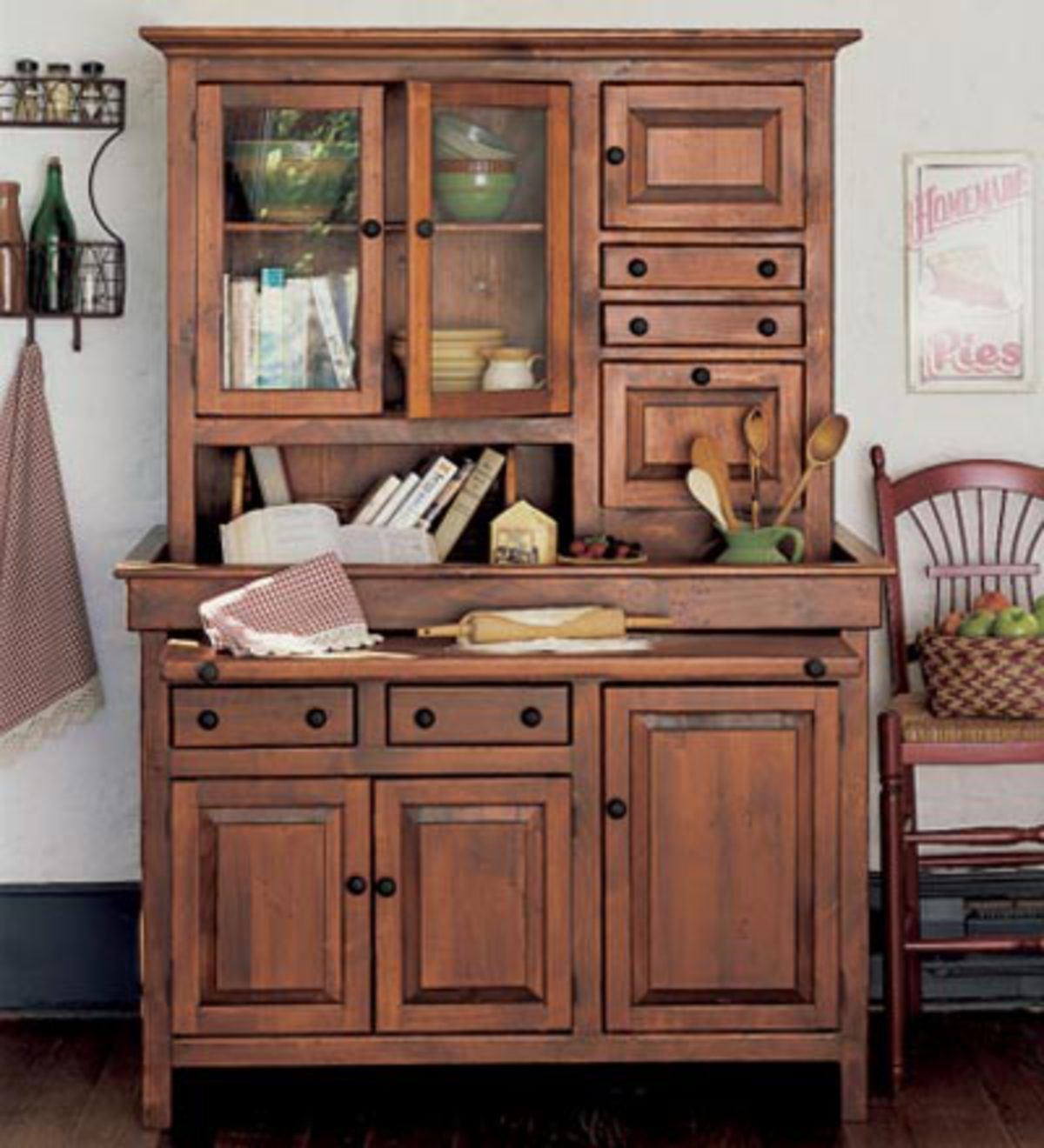 Our American Made Conestoga Cupboard Is Handcrafted With Handy Shelves For Staples And Kitchen Supp In 2020 Glass Cabinet Doors Cupboard Storage Diy Kitchen Renovation