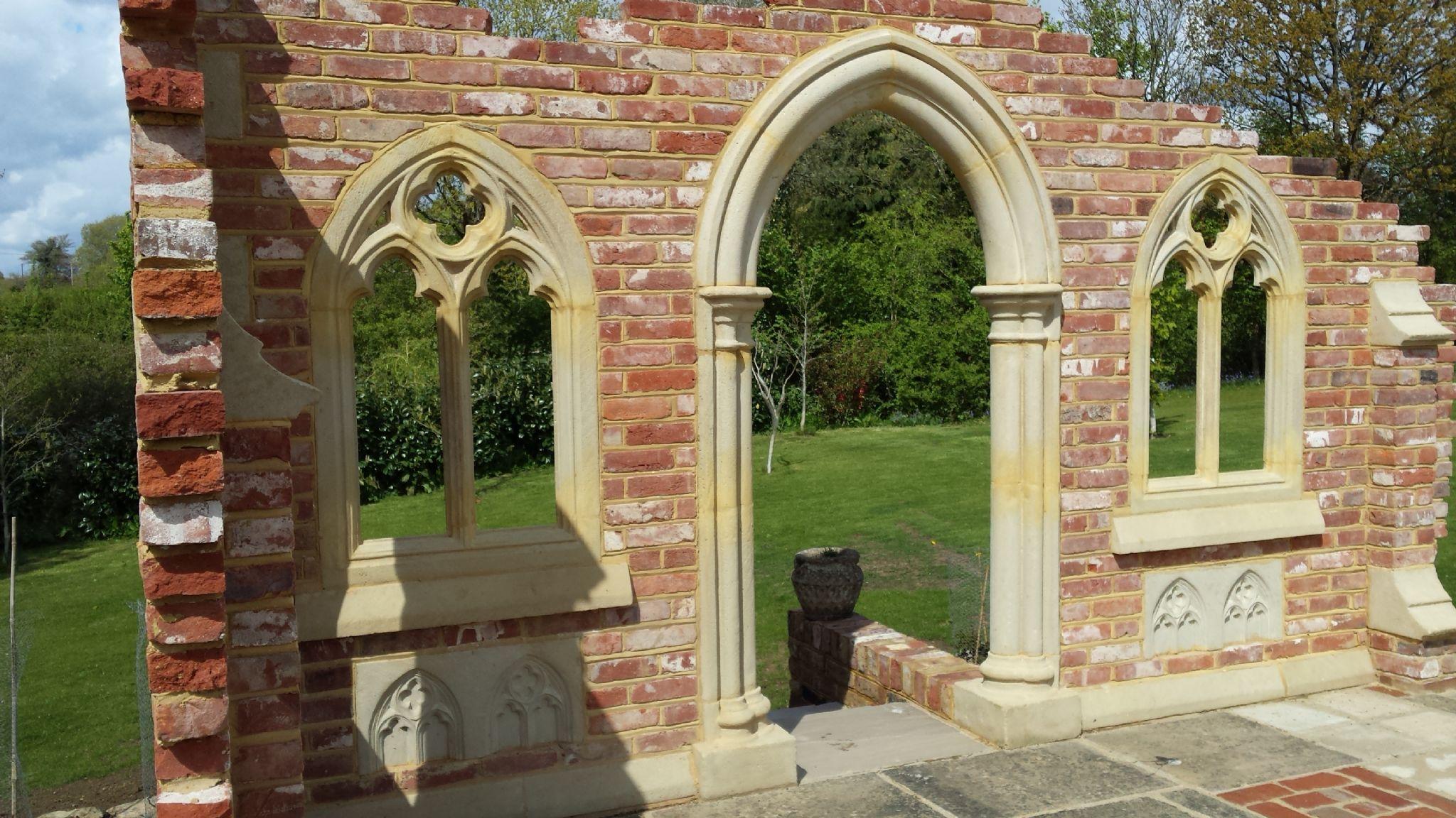 Garden folly gothic arch abbey doorway victorian follys for Garden folly designs