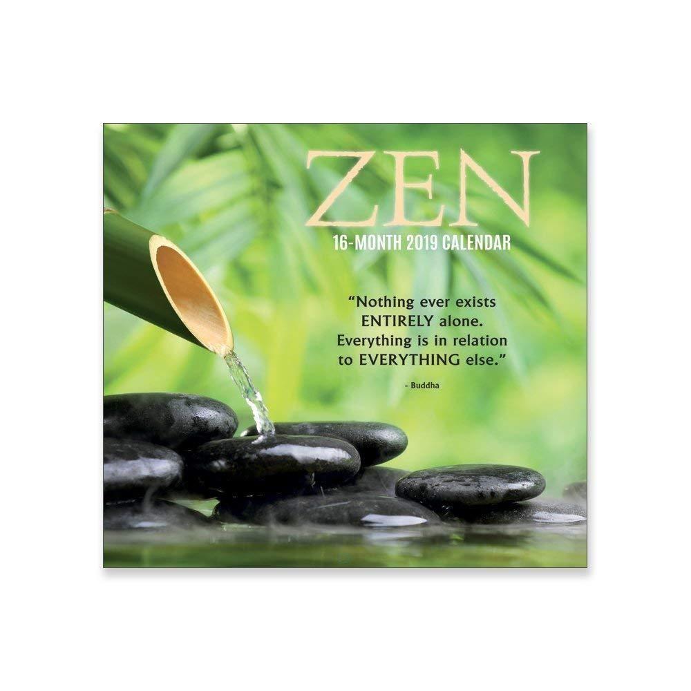 2019 Zen 12 x 12 Wall Calendar