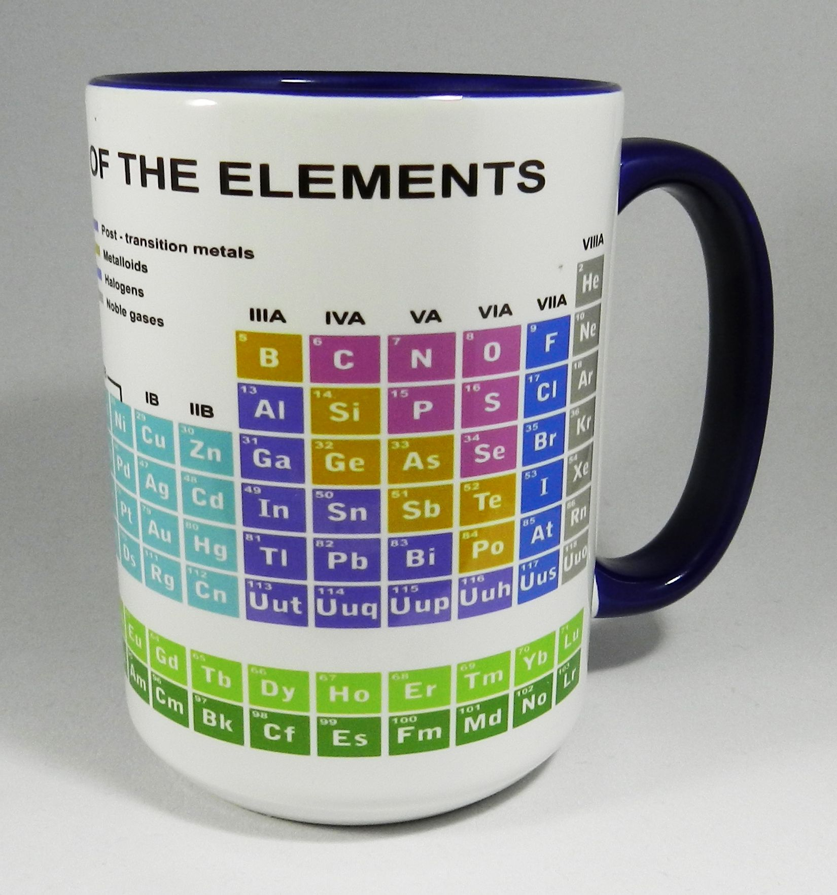 The periodic table of elements educational ceramic mug featuring the periodic table of elements educational ceramic mug featuring all the traditional groups metals transition elements the halogens etc urtaz Gallery