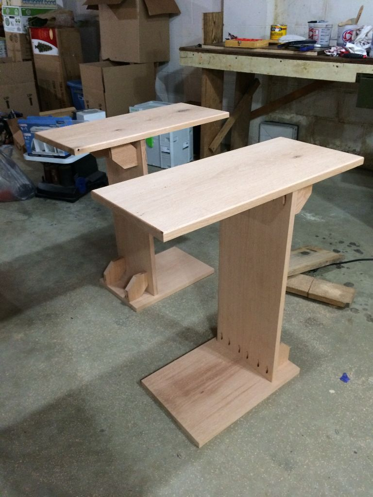Side Tables To Go Over The Couch Arms There Are So Many Pocket Screws In These They Shouldn T Ever Come Apart In 2020 Diy Sofa Table Diy Side Table Furniture Diy