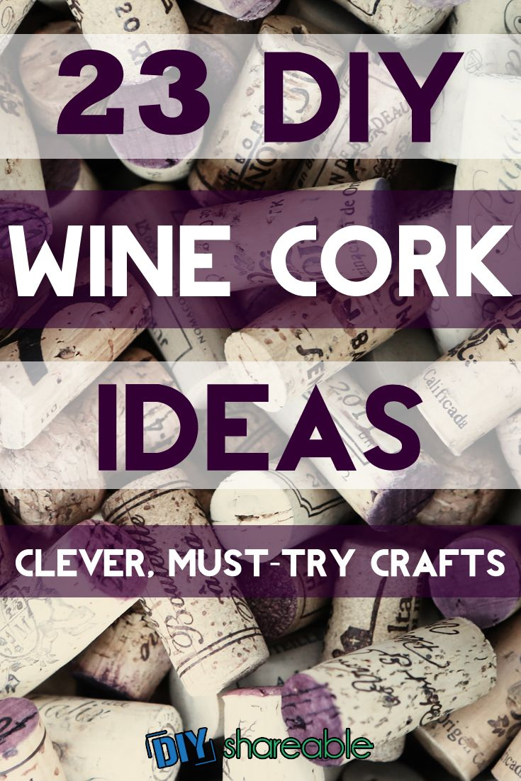 23 Clever Wine Cork Crafts (YOU NEED TO TRY) | Cork crafts, Cork ...