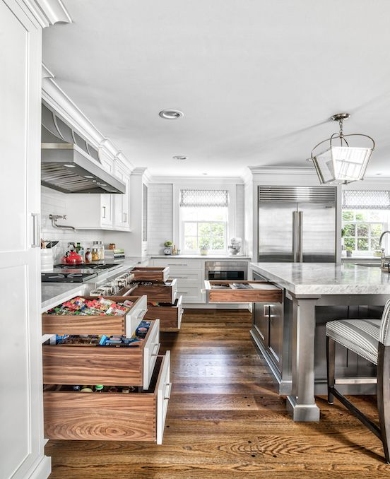 White Cabinetry Perimeter With (Bear) Shadow Mountain