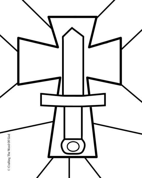 Sword Of The Spirit Coloring Page Armor Of God Lesson Armor Of God Vacation Bible School Themes