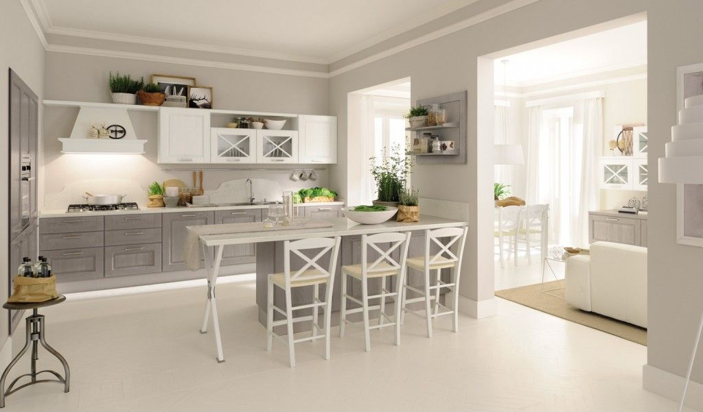 Cucine Moderne Bianche E Grigie Lube.Cucine Con Ante Riquadrate O A Telaio Arredo Interni