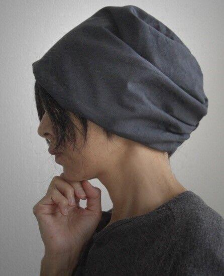 ターバンな帽子 ネイビーリバーシブル ターバン帽子 ターバン 帽子