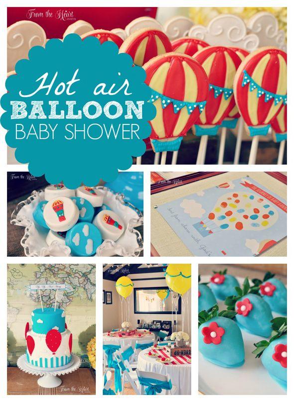 hot air balloon baby shower hot air balloons air balloon and themed