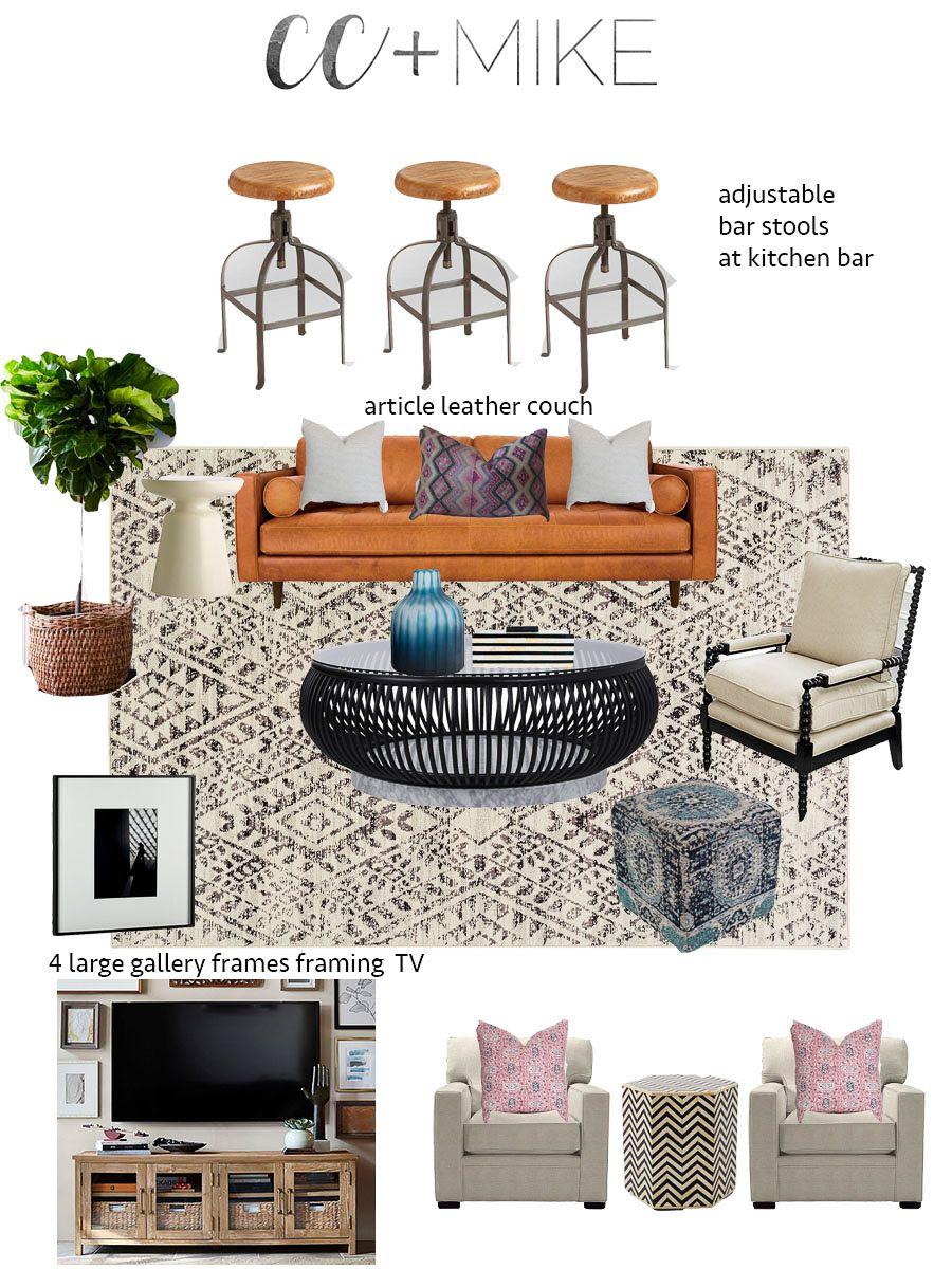 Tulsa Remodel Reveal Modern White Farmhouse Living room