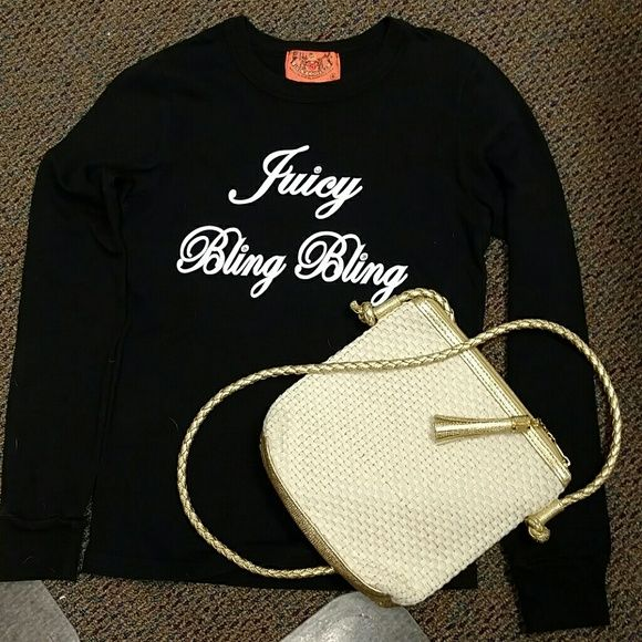 Juicy bling bling long sleeves Like new. Made in the glamorous USA Juicy Couture Tops Tees - Long Sleeve