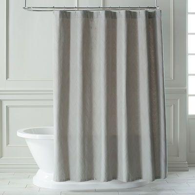 Matelasse Chevron Dove Shower Curtain