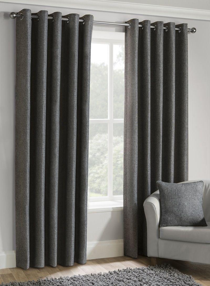 Versailles Ready Made Lined Eyelet Curtains In Charcoal Terrys Fabrics Uk Dekorasi Rumah Elegan Dekorasi Rumah Rumah