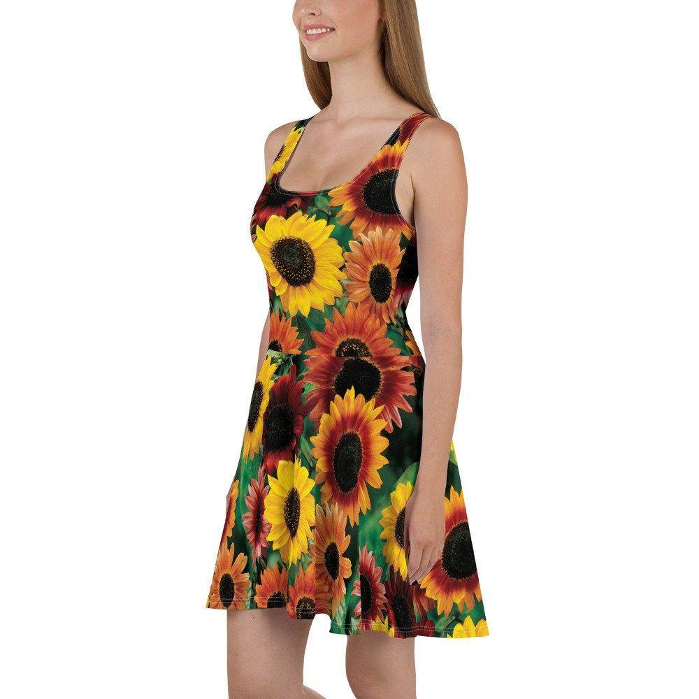 Sunflower Dresssunflowerssummer Dressshort Dressgirls Etsy Work Dresses For Women Short Summer Dresses Party Dresses For Women [ 1000 x 1000 Pixel ]