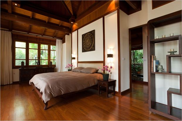 I Like This Thai Style Bedroom But Love The Shelves On The Right
