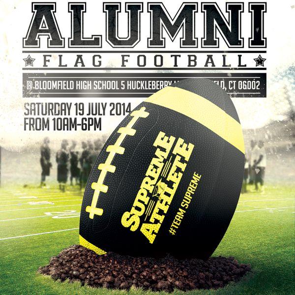 Supreme Athlete Alumni Flag Football On Behance  Flyers